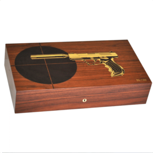 "Elie Bleu 110 Cigars Rosewood ""Gun"" Limited Edition Humidor"