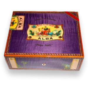Elie Bleu 75 Cigars Purple Flor de Alba Humidor