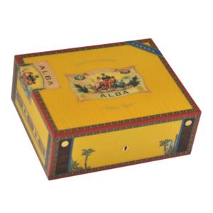 Elie Bleu 75 Cigars Yellow Flor de Alba Humidor